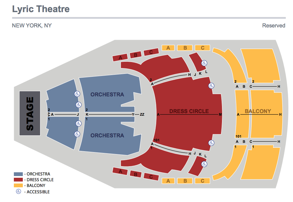 Foxwoods Theater Seating Chart