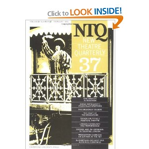 New Theatre Quarterly 37: Volume 10, Part 1 by Clive Barker (Editor), Simon Trussler (Editor)