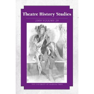 Theatre History Studies 2009: Volume 29 by Various
