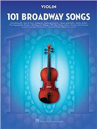 101 Broadway Songs for Violin Cover