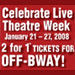 Off-Broadway 2-for-1 Deals in 'Live Theatre Week' Jan.21-27