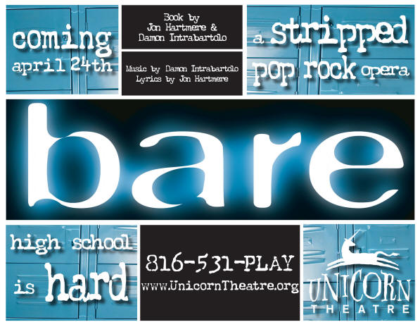 bare Opens At The Unicorn 4/24-5/17