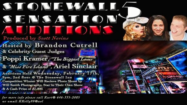Win $1000 Tonight At Stonewall Sensation Auditions