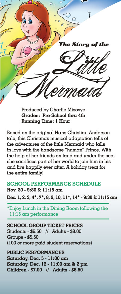 THE STORY OF THE LITTLE MERMAID Runs 11/30-12/14 At Theatre At The Center
