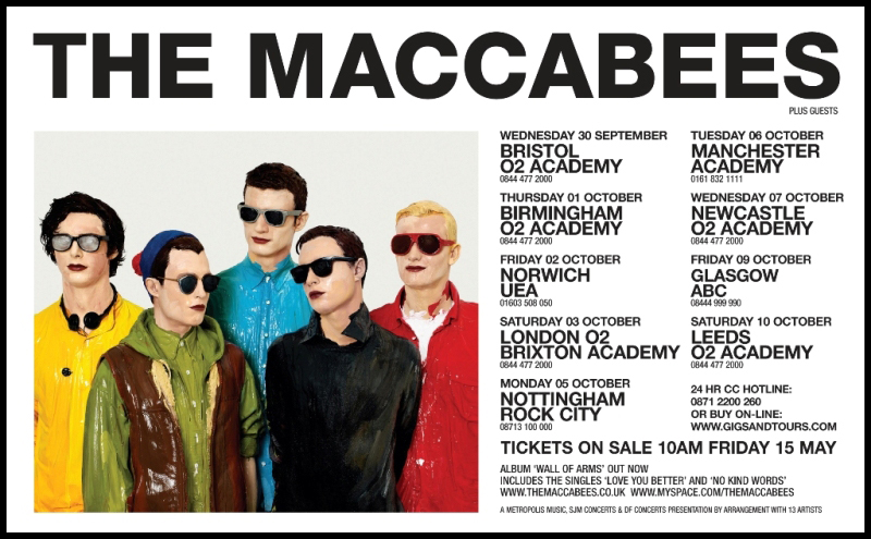The Maccabees Tour In US; Play In Brooklyn 6/20, NYC 6/22