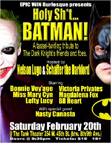 EPIC WIN Burlesque Presents 'Holy Sh*t...BATMAN!' At The Tank