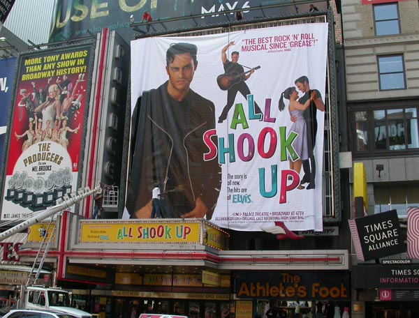 Photo Flash: New Times Square Marquee Goes Up for All Shook Up