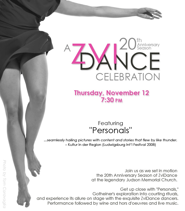 ZviDance Celebrates 20 Years With Their Annual Fall Benefit 11/12