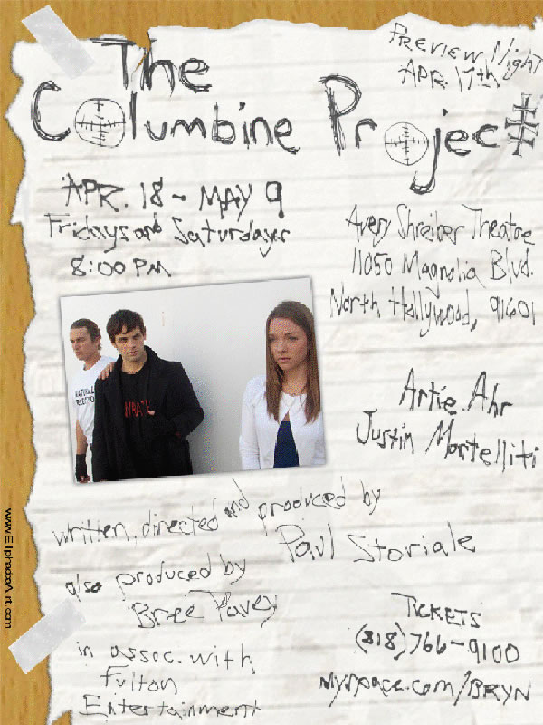 THE COLUMBINE PROJECT Runs 4/17-5/9, Added Memorial Show On 4/20