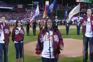 STAGE TUBE: The GLEE Cast Sings National Anthem at the World Series Game