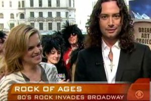 STAGE TUBE: 'ROCK OF AGES' Stars Maroulis & Spanger Visit CBS's 'EARLY SHOW'