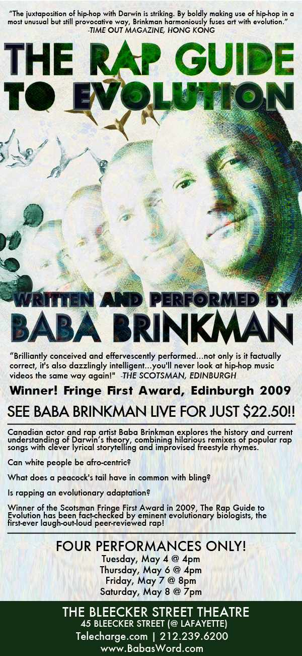 Baba Brinkman Presents THE RAP GUIDE TO EVOLUTION 5/4-8