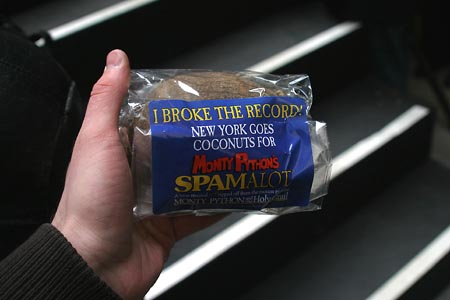 Photo Coverage: Spamalot's World's Largest Coconut Orchestra