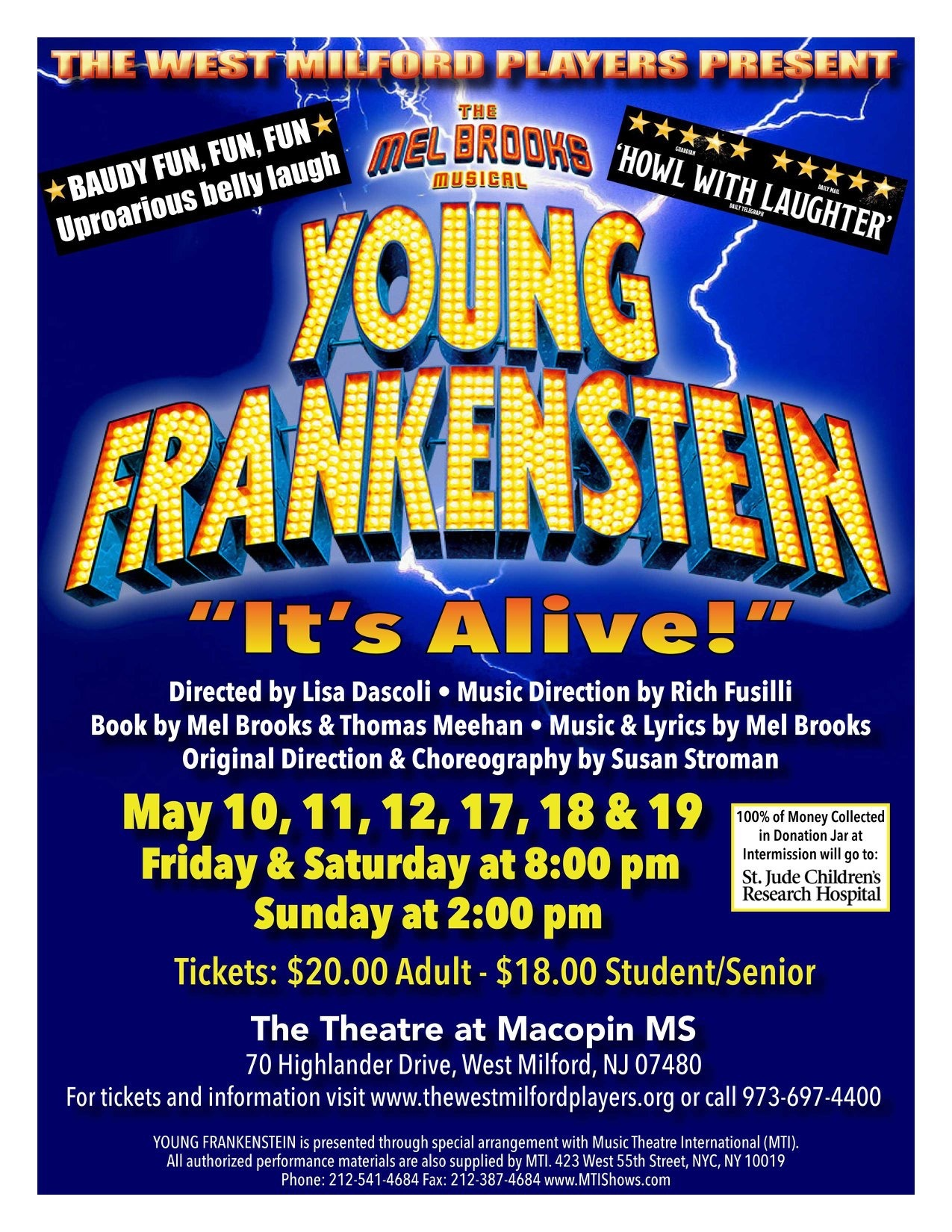 BWW Review: The West Milford Players Presents Mel Brooks' YOUNG FRANKENSTEIN