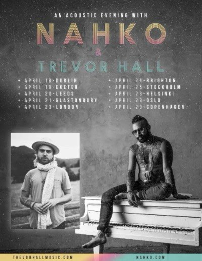 nahko announces solo acoustic uk european tour with trevor hall. Black Bedroom Furniture Sets. Home Design Ideas