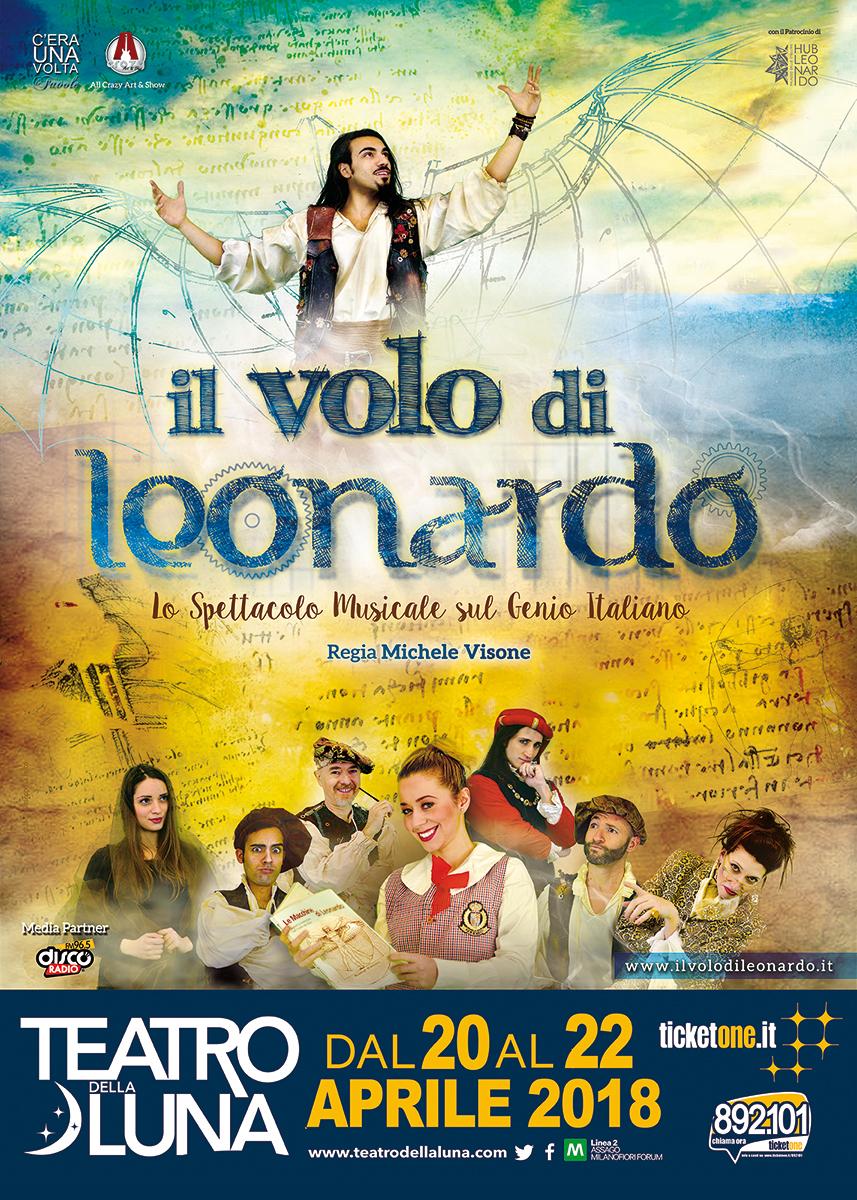 IL VOLO DI LEONARDO. Dal 20 al 22 aprile a Milano prende vita il musical su Leonardo da Vinci