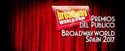 Ganadores de los PREMIOS DEL PÚBLICO BROADWAYWORLD SPAIN 2017