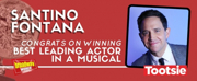 TOOTSIE's Santino Fontana Wins Tony for Leading Actor in a Musical