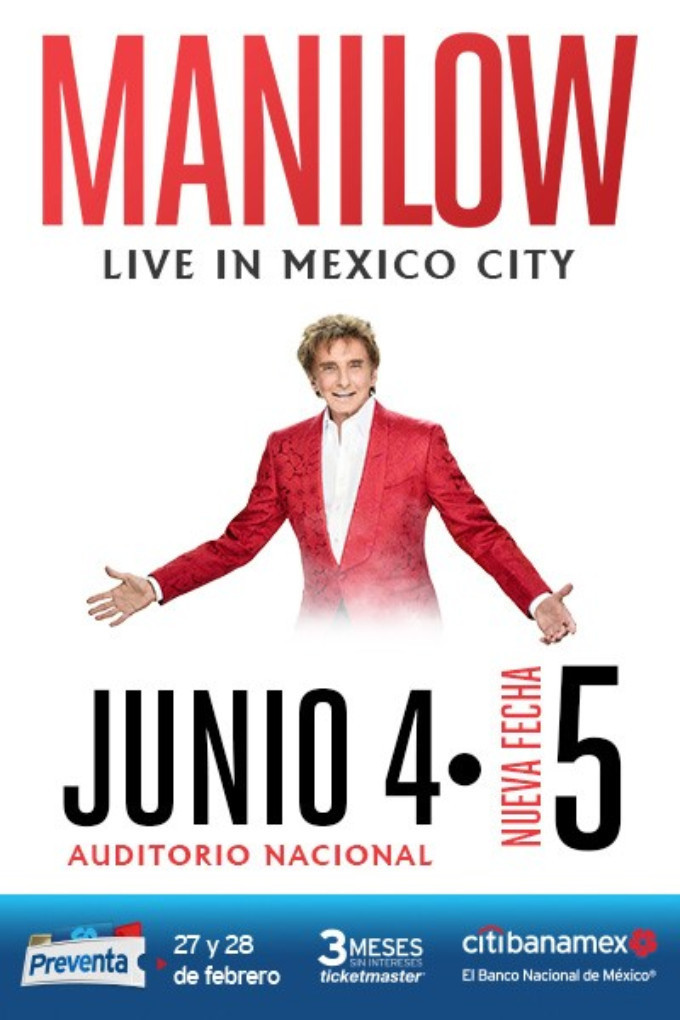 Barry Manilow Comes to Ocesa Teatro in MANILOW: LIVE IN MEXICO CITY 6/4