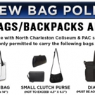 North Charleston Coliseum and Performing Arts Center Announces New Bag Policy