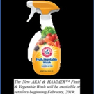 CR Brands Launches ARM & HAMMER? Fruit & Vegetable Wash