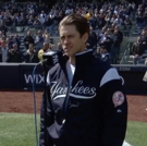 VIDEO: Aaron Tveit Kicks Off the Yankees' Season with the National Anthem!