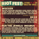 Riot Fest Announces Daily Lineups and Single Day/2 Day Tickets, On Sale Now