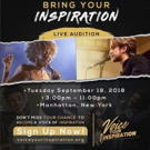 Voice Your Inspiration, National Artist Contest and Live Auditions in NYC