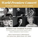 Music Conservatory Of Westchester Presents Concert Debut Of Composition By Mary L. Bianco With Manhattan Chamber Players