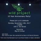 The Wild Project to Honor Big Art Group at 10th Anniversary Party Tonight