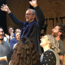 Photo Flash: Yiddish FIDDER ON THE ROOF Cast Hoists Joel Grey Into the Air to Celebra Photo