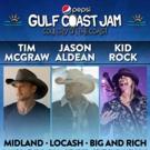 Tim McGraw, Jason Aldean, Kid Rock to Headline Pepsi Gulf Coast Jam
