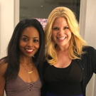 Photo Flash: Megan Hilty Visits Adrienne Warren Backstage at TINA
