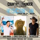 Chris Stapleton, Tim McGraw and Jake Owen to Headline 2019 Country Thunder Wisconsin