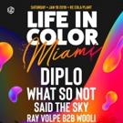 Diplo to Headline LIFE IN COLOR MIAMI 2019 Photo