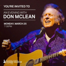 Don McLean Announces U.S. & European Tour Dates Photo