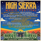 High Sierra Music Announces Additional Artists for 2019 Festival