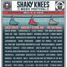 Jack White, Queens of the Stone Age and The National to Headline Shaky Knees Music Festival