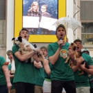 VIDEO: Gavin Creel, Charlie Stemp (and a Whole Bunch of Puppies) Take Over Shubert Alley for Broadway Barks Performance!