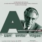 Recordarán al arquitecto Juan Benito Artigas en la Sala Manuel M. Ponce Photo