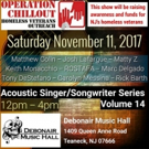 Acoustic Singer/Songwriter Series to Host Operation Chillout Benefit at Debonair Music Hall