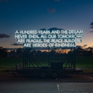 Emergency Exit Arts And Robert Montgomery Bring Peace Poem To London As Part Of Paper Peace