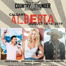 Jason Aldean, Jake Owen, Miranda Lambert To Headline 2019 Country Thunder Alberta