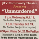 BWW Review: UNMURDERED at JKV Community Theatre At The Pavillion, Lee's Summit, MO