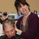 FREEZE FRAME: Beth Leavel and Christopher Sieber Get Hairy as Miss Hannigan Gives Daddy Warbucks a Buzz Cut! Photos
