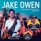 Country Superstar Jake Owen Announces LIFE'S WHATCHA MAKE IT TOUR 2018 Photo