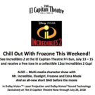 Chill Out With Frozone At INCREDIBLES 2 At The El Capitan