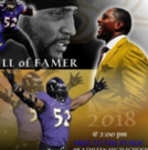 Artist George Gadson and Baltimore Ravens' Retired 