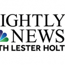 RATINGS: NBC NIGHTLY NEWS WITH LESTER HOLT is Number One For the Week