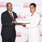 Leslie Lewis And MIRACLE IN RWANDA Are Honored By Ndaba Mandela and Congressman Hakee Photo